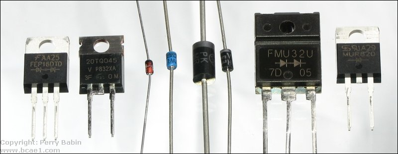 Diode Current Rating Across a Diode And Current