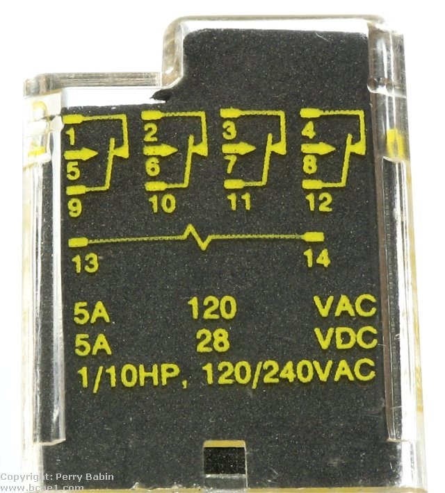 relays the side view of this relay shows the schematic diagram for the relay this can be found on most relays this is a simple relay only one circuit