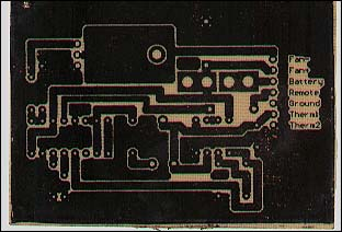 Toner on Board After Etching