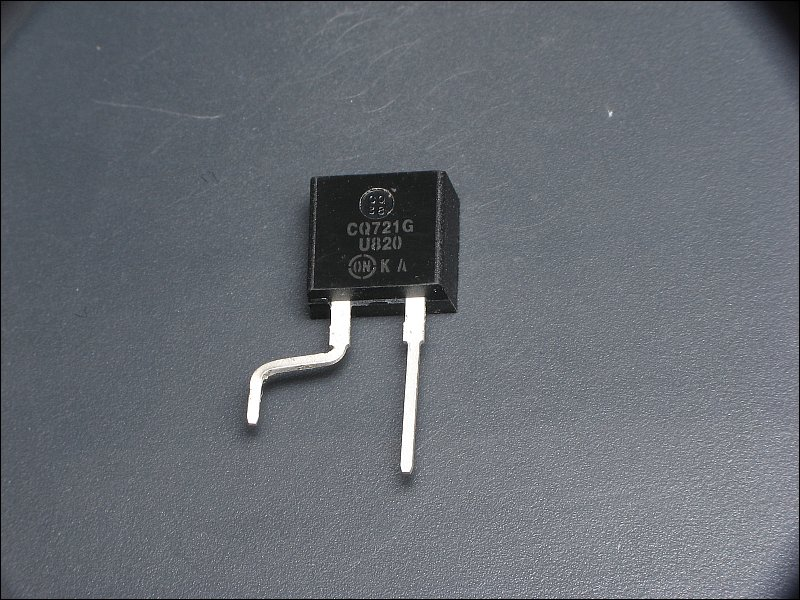 in a previous photo, you may have noticed a capacitor (100uf/63v) with its  leads bent so that the body of the capacitor is now parallel with the board