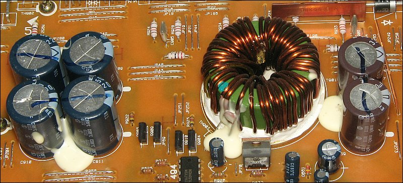 Basic amplifier repair the capacitors on the right are the b filter capacitors they are generally rated for higher operating temperatures sciox Choice Image